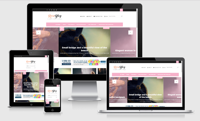 Rose Blog Responsive Blogger Template