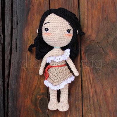 Pocahontas amigurumi