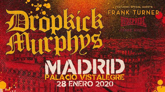 Dropkick Murphys, Madrid, Enero, Concierto, Música