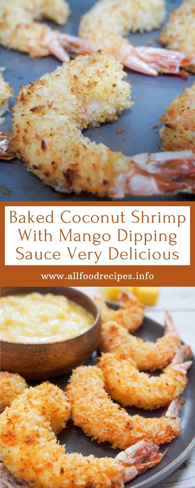Baked Coconut Shrimp With Mango Dipping Sauce Very Delicious