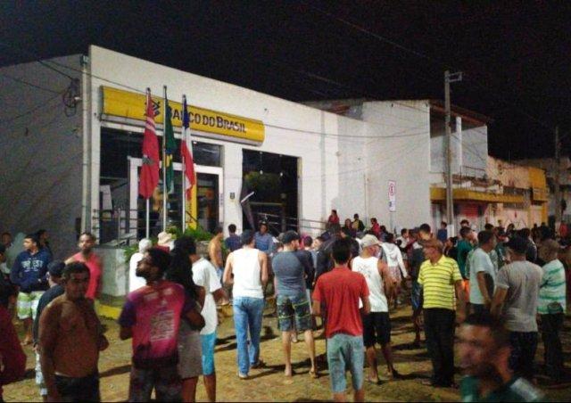 Chapada: Bandidos atacam agência do Banco do Brasil em Utinga