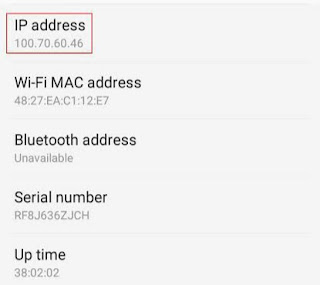 How to get any android phone ip address