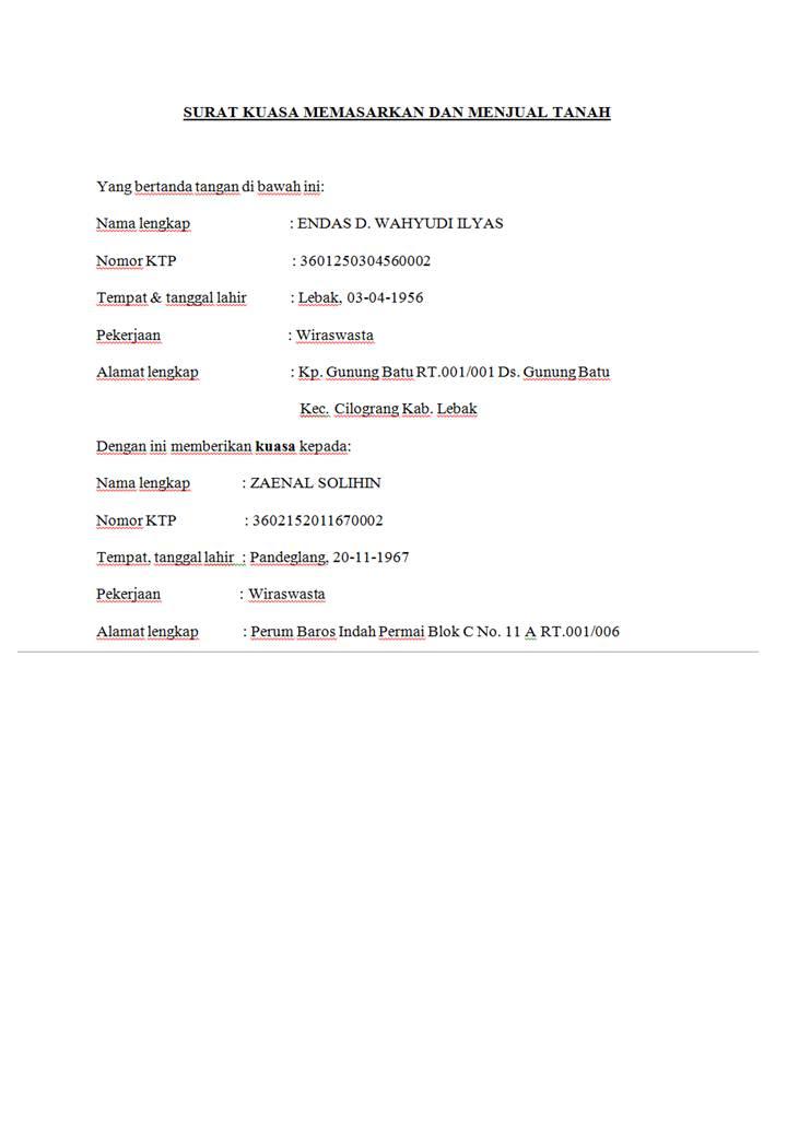 Surat Kuasa Menjual Tanah : surat, kuasa, menjual, tanah, CONTOH, SURAT, KUASA, MEMASARKAN, MENJUAL, TANAH, Husnuls492.com