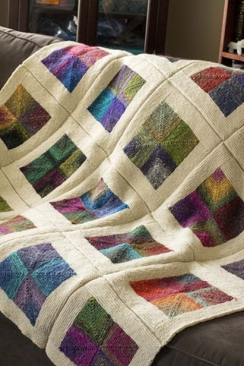 Mitered Square Blanket - Free Pattern