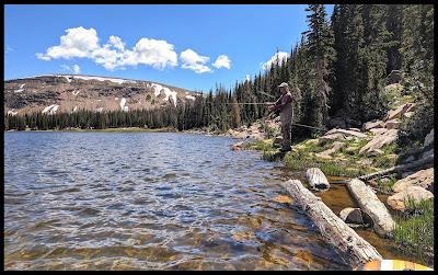 Hubby fishing on Moosehorn Lake