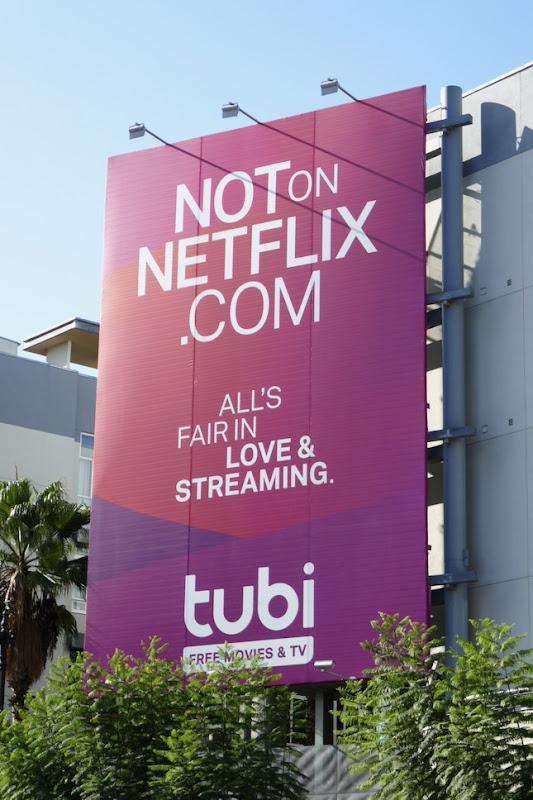 Tubi TV Not on Netflix billboard