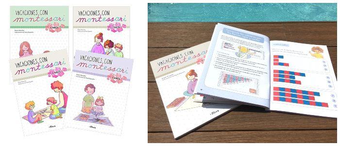 libro actividades vacaciones con montessori, cuaderno verano