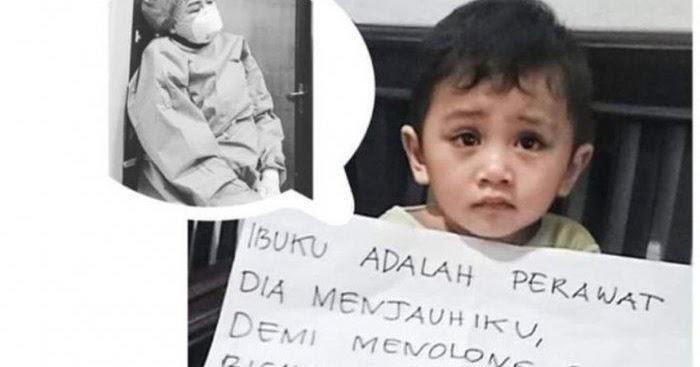Viral Foto Anak Perawat Sedih Dijauhi Ibunya yang Rawat ...