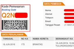 Cara Cek Kode Booking Kerta Api Indonesia