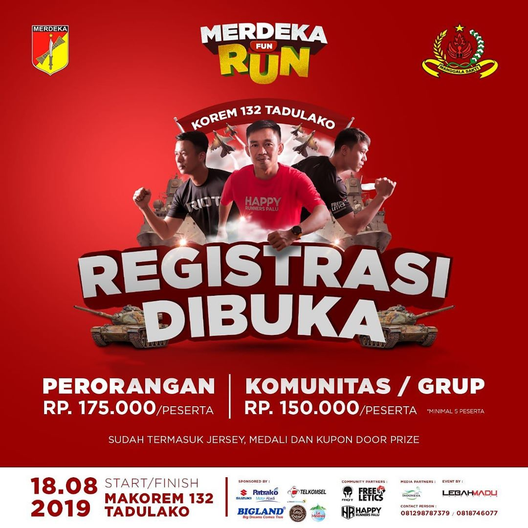 Korem 132 Tadulako Merdeka Fun Run • 2019