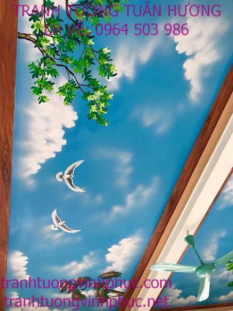 vẽ trần mây 3d tại tuân chính vĩnh tường vĩnh phúc3