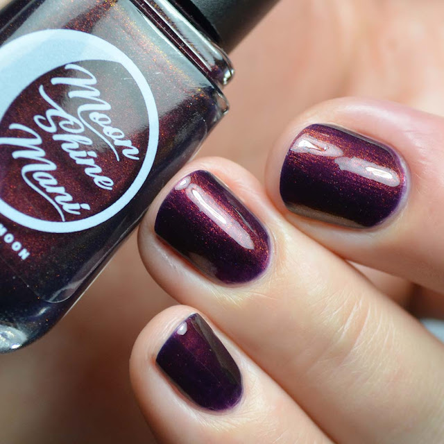 indigo jelly nail polish with shimmer