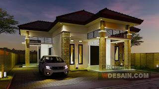 Denah Rumah 12x16 Dengan Teras Samping Yang Mewah Desain Rumah Minimalis