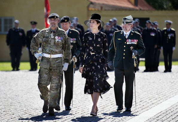 Crown Princess Mary wore A.L.C. Christianne Floral-print Silk Midi Dress and she wore Gianvito Rossi pumps
