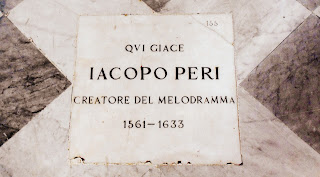 The tomb of Jacopo Peri in the Church of Santa Maria Novella in Florence