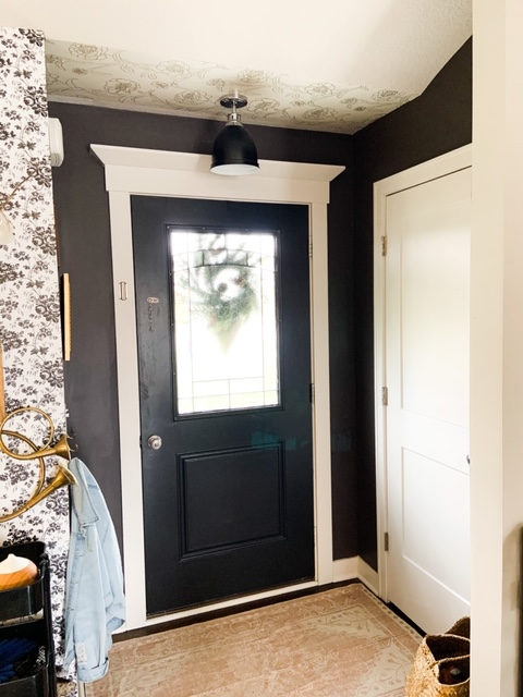 silhouette and space black by benjamin moore