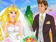 Princess Aurora and her charming prince love each other and want to get married. But their parents aren't agreeing to the marriage! The prince's parents have locked him in his room and Princess Aurora is hurrying to help him out. Young princes and princess has decided to get married secretly! Help beautiful princess Aurora to complete help wedding outlook. Find her a dress, flowers and other important parts of outlook.