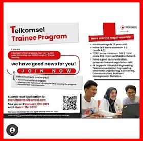 Lowongan Kerja S1 Terbaru Maret 2021 di PT Telkomsel