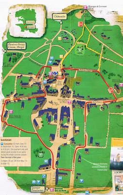 Mapa de Locronan