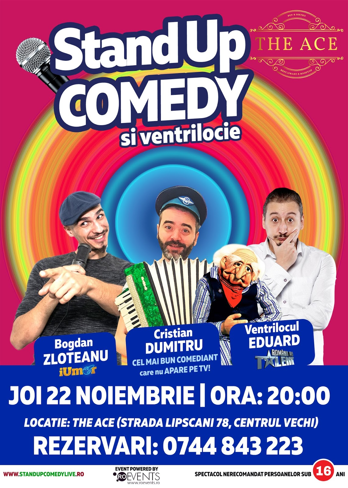 Stand-Up Comedy Bucuresti Joi, 22 Noiembrie 2018