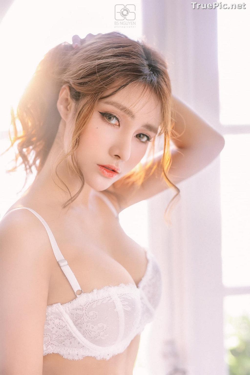 Image Vietnamese Model - Nguyen Thi Phi Yen - Beautiful Sexy White Lingerie - TruePic.net - Picture-20