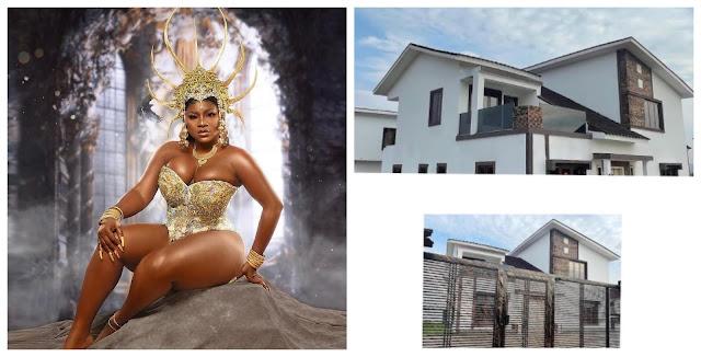 Actress Destiny Etiko buys herself a mansion in Enugu as a birthday gift (Photos)