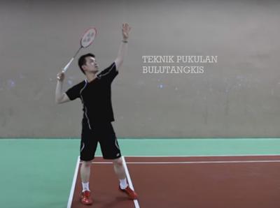 teknik dasar pukulan dalam bulutangkis badminton