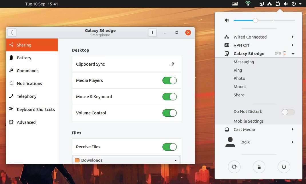 GSConnect Updated With Command Line Interface, Wayland