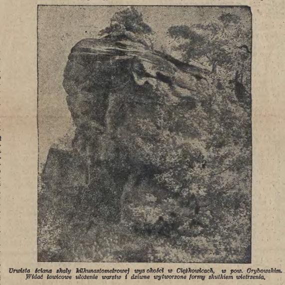 skałki w Ciężkowicach 1928