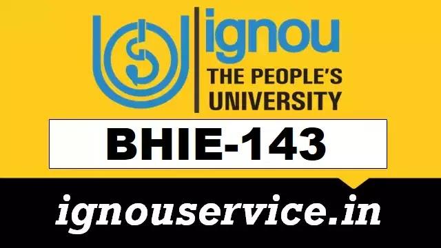 BHIE-143 Solved Assignment Hindi Medium 2021-22