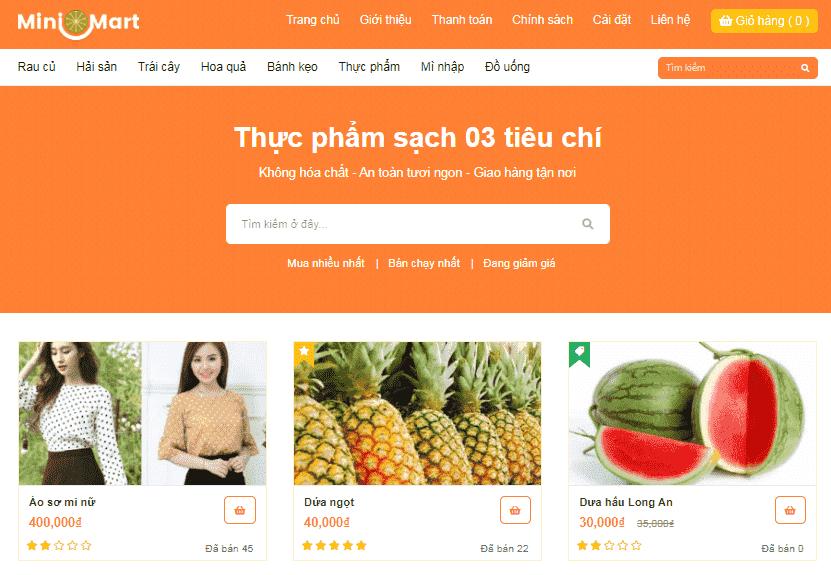 Template Blogspot bán hàng nhỏ gọn load nhanh
