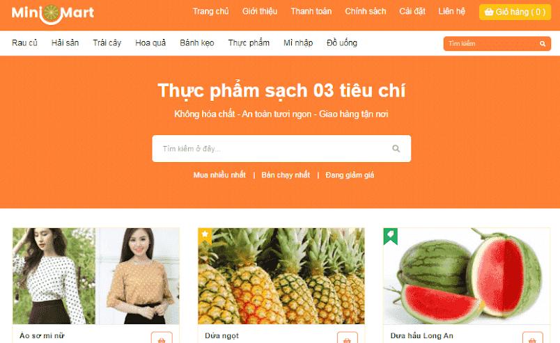 Template Blogspot bán hàng nhỏ gọn