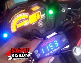 Cara Pasang Voltmeter Jam (2 In 1) 3 Kabel Pada Motor
