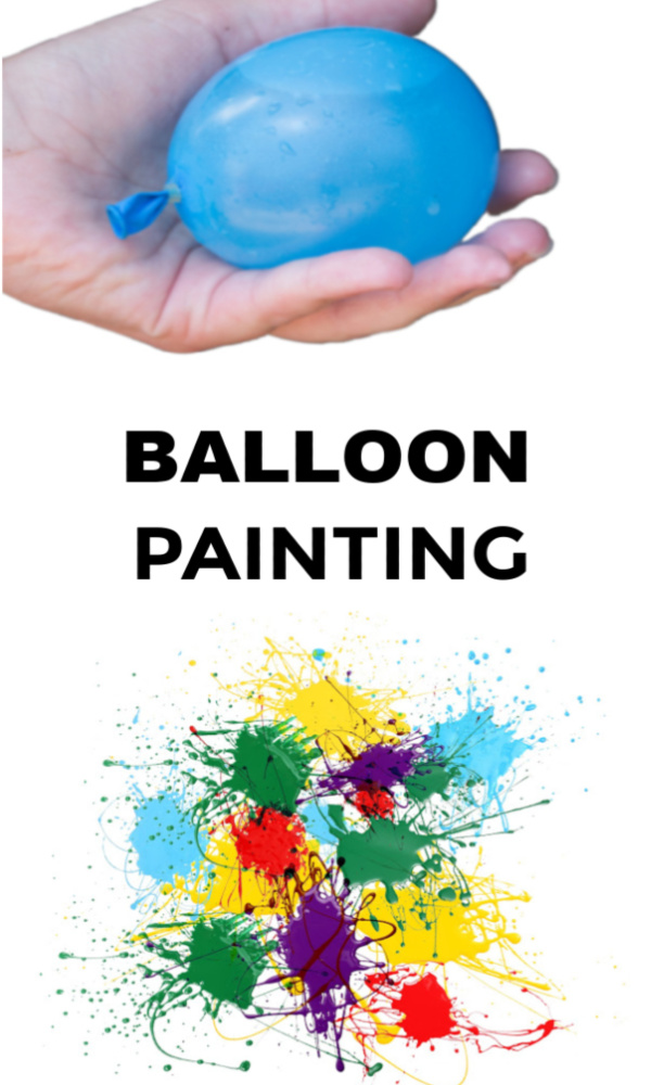 Fun & creative ways for kids to paint with balloons. #balloons #balloonpainting #balloonpoppainting #paintfilledballoons #balloonactivitiesforkids #growingajeweledrose