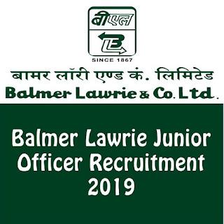 Balmer Lawrie Junior Officer Recruitment 2019