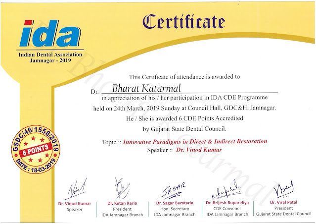Innovative Paradigms in Direct and Indirect Restoration by Dr. Vinod Kumar Rajkot