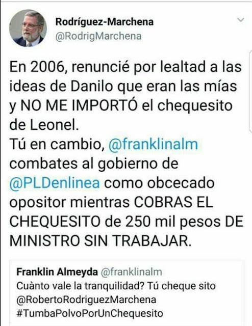 """Vocero del presidente Danilo acusa a Franklin Almeyda de cobrar """"chequesito de 250 mil sin trabajar"""""""