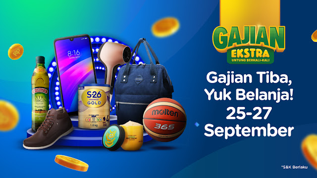 #Tokopedia - #Promo Gajian Ekstra Dapatkan Cashback & Ongkir Gratis (s.d 27 Sept 2019)