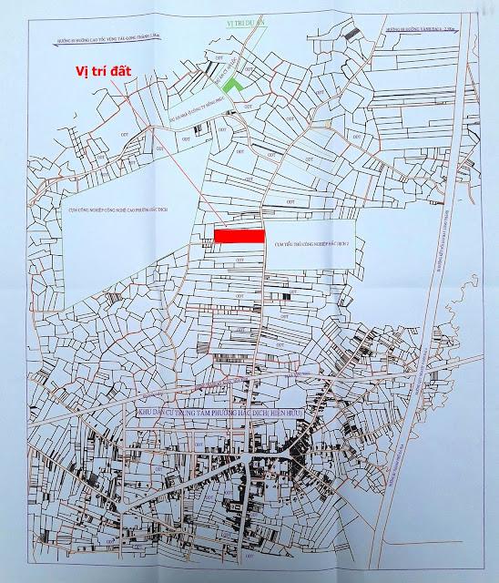 Bản đồ địa chính phường Hắc Dịch Phú Mỹ