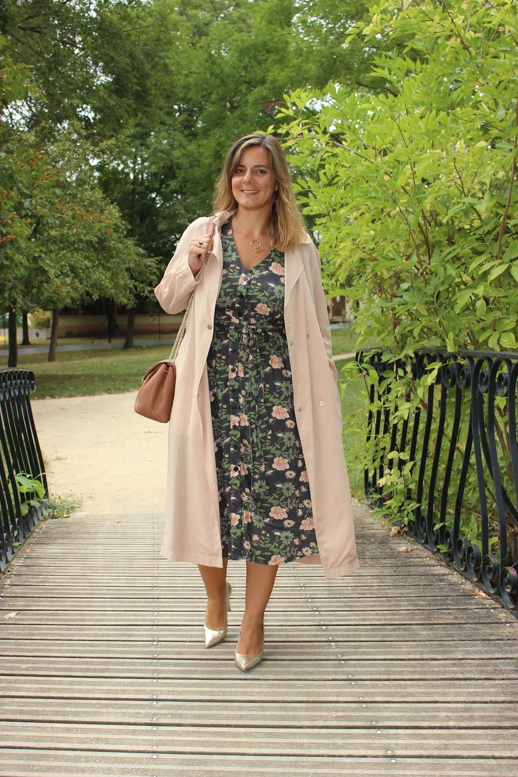 robe balzac, sac lancaster, sac polène, look du jour, mode, les petites bulles de ma vie