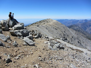 View west toward West Badly from the summit of Mt. Baldy