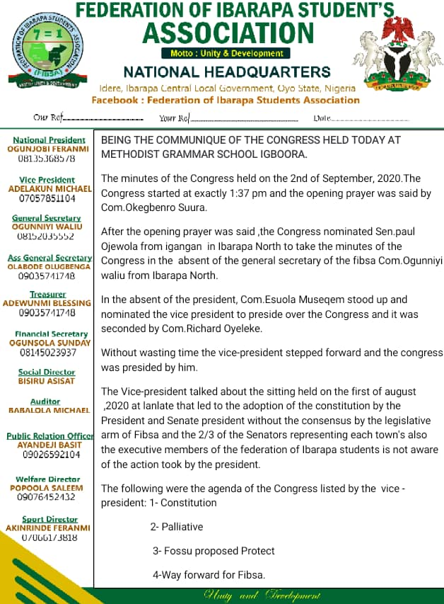 Shock! as congress suspended the executive president and the president of the Senate... see more details here