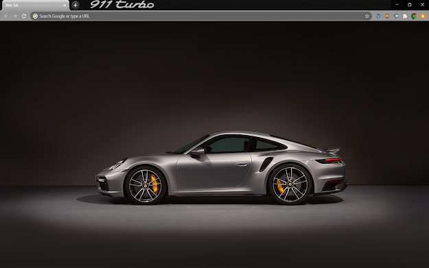 Porsche 911 Turbo Google Chrome Theme