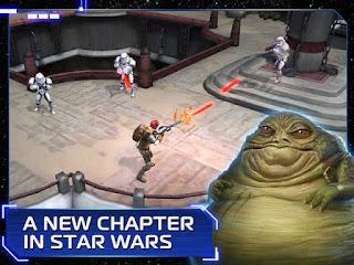 dengan latar belakang kisah berada di antara Star Wars  Unduh Game Android Gratis Star Wars Uprising apk + obb