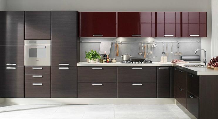 Cocinas angulares para espacios m s grandes cocinas con estilo - Muebles de cocina color wengue ...