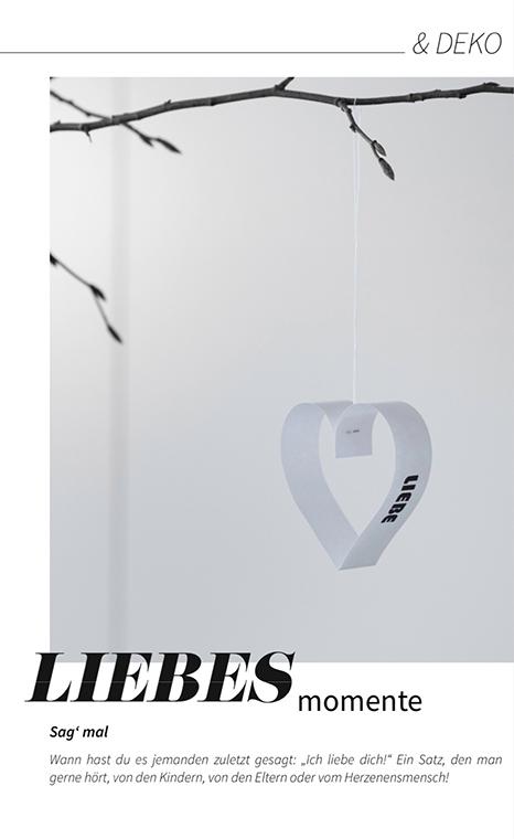 Valentinsherz aus Papierstreifen selber machen. Die Anleitung und die Druckvorlage findest du im MINIMAlmagazin - minimalistisch leben und wohnen.