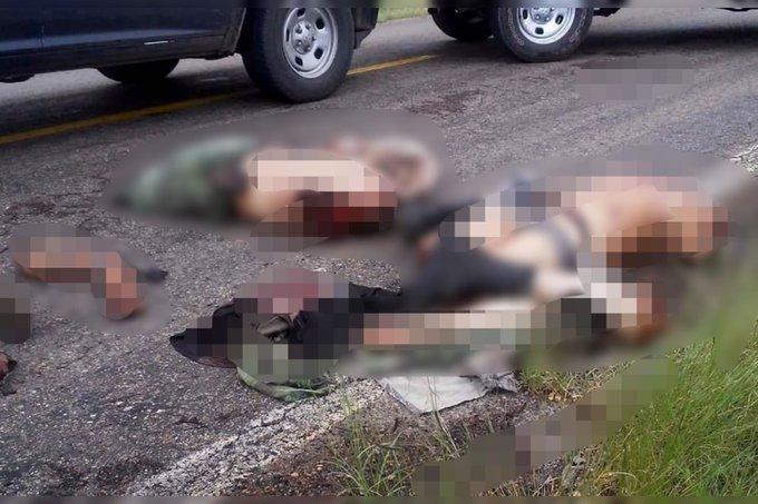 """""""Cartel del Jaguar"""" deja abandonado a dos sujetos descuartizados y sin cabezas junto a Narcomanta en Madera, Chihuahua"""