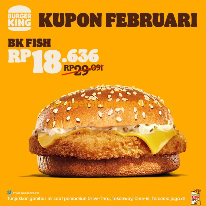Promo Kupon Burger King Februari 2021