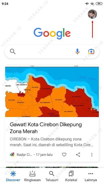buka menu profil google