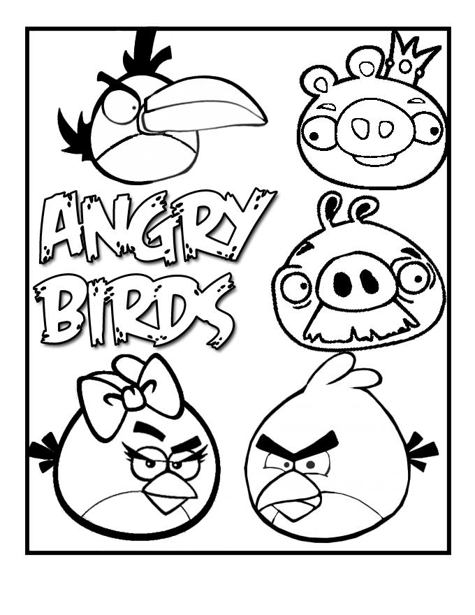 Angry Birds Desenhos Para Colorir Atividades Pedagogicas